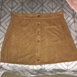 Brown boutique skirt